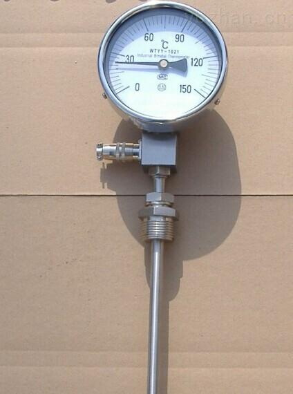 WTZ/WTQ=280蒸汽/气体全不锈钢防腐型压力式温度计