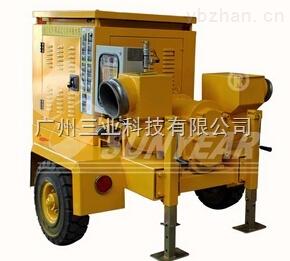 三业科技-厦门大学选用广州三业拖车式柴油机排涝泵