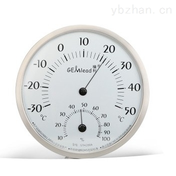 STH200A-榛利 大?#26412;?#34920;盘不锈钢外壳温湿度计 家用客厅办公室厂房高精度温度表 STH-200