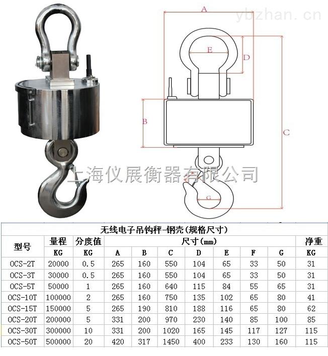 崇明島5噸電子吊秤