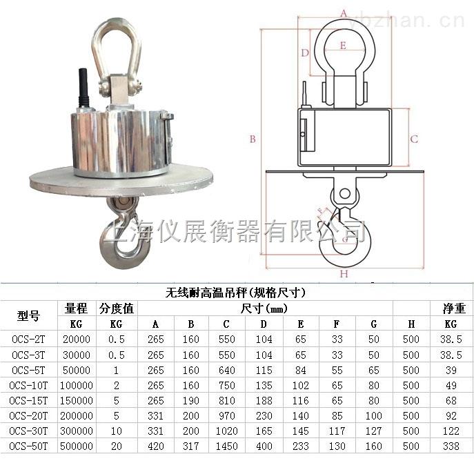 金華30噸電子吊秤價格