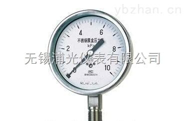 YMNF-100-无锡专业膜盒压力表生产厂家
