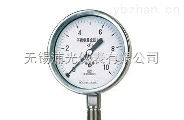 YMNF-100-無錫專業膜盒壓力表生產廠家
