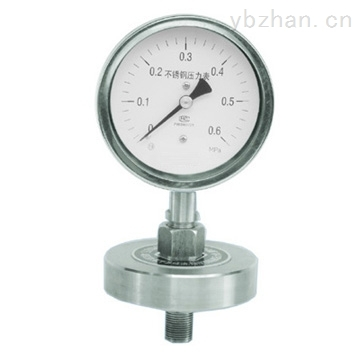 YML-100不锈钢隔膜螺纹压力表
