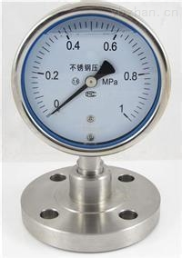 YE-60-B/75-B/100-B/150-B不銹鋼耐震膜盒壓力表