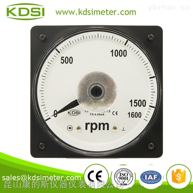 LS-110-指針式廣角度直流電流轉速表 LS-110 4-20mA 1600RPM