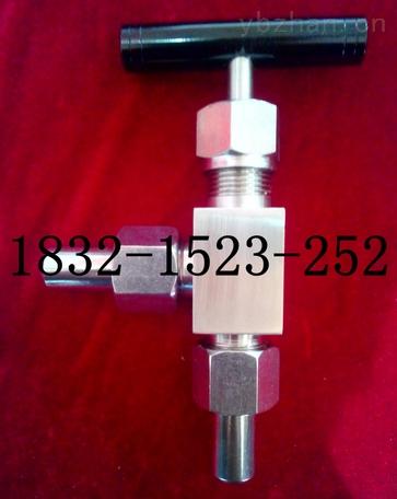 J24W-320P、J24H-6000PSI不锈钢一字手柄外螺纹角式针型阀