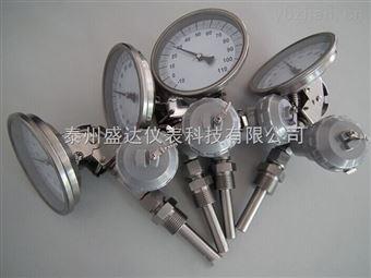wss-411工业电接点不锈钢指针式双金属温度计wss-411
