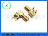 RP-SMA直角射頻連接器 反極性SMA-KWE射頻接頭 SMA板端插座