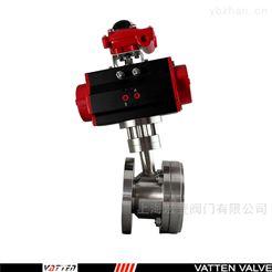 Q641F山东反应釜罐底专用气动阀门