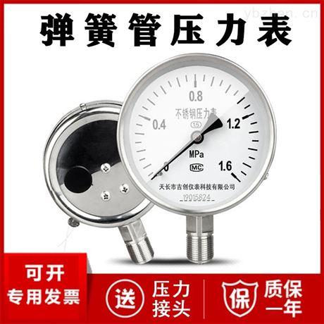 径向压力表厂家价格 压力仪表 304 316L