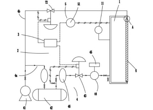 【仪表专利】恒压法检测核电站气密门气密性检测装置