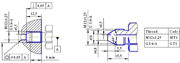 6-10-gk1-mlhpl镁钛蓝宝石压力传感器(低压型)  6,带压力接口,更易于