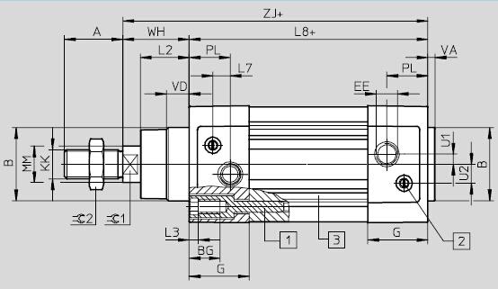 气缸传感器电路图
