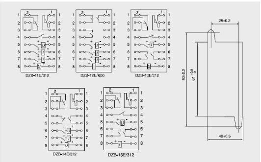dzb-15e/312-dzb-15e/312中间继电器