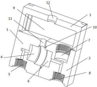 式差压变送器的结构示意图