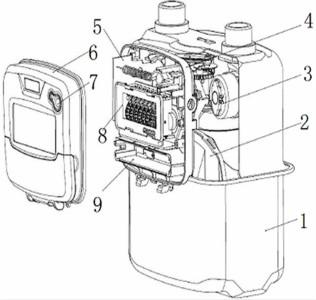 【仪表专利】采用光电技术读数的lora扩频无线远传燃气表